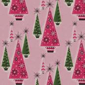 Mid Century Christmas trees
