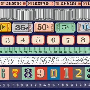 Washi Numbers* (Multi Jackie Blue)