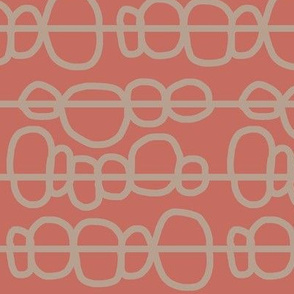 background: seedy bobbles in mauve + sepia