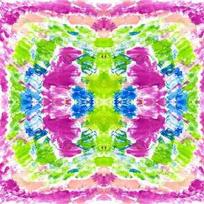 watercolor kaleidoscope MEDIUM  berry splash