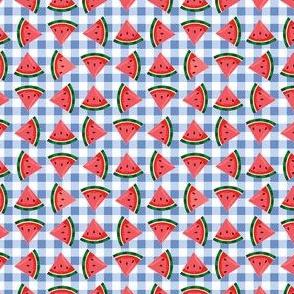 Watermelons-BlueGingham