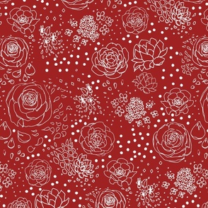 Fiery Red Floral