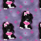 Shihtzu - Shih Tzu Black Matching fabric.