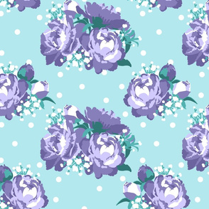 Peonies (lavender on mint)