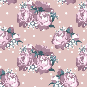 Peonies (tea rose on taupe)