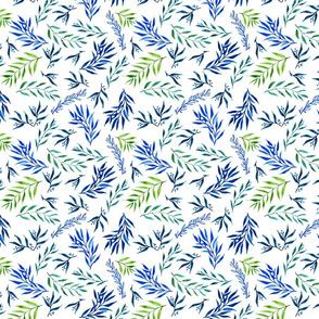 blue leaves I