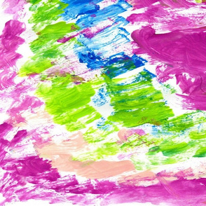 Watercolor Kaleidescope 54 LG Berry Splash