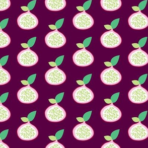 Summer fruit garden tropical passion fruit fig  and dragon fruit pink green