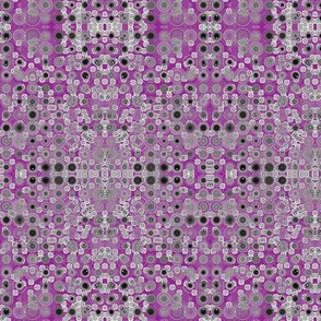 Dancing Dots and Spots of Grey on Violet Dusk