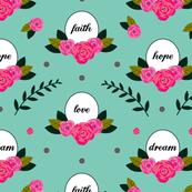 Faith Hope Love Dream in Sky