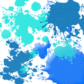 Ink Splatter in Blue