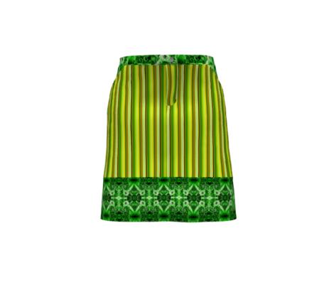Bella Nina 5 - Vertical Variegated Pinstripe in Green, Yellow and Brown