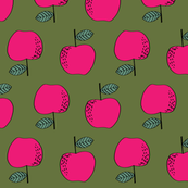 apples // apples bright pink kids fall autumn fruits