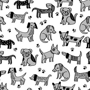 dogs // dog grey kids cute illustration pet dog baby
