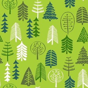 trees // green forest christmas holiday green