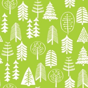 christmas tree // lime green trees forest trees holiday