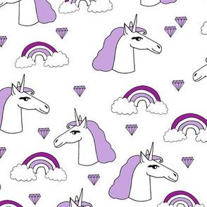 unicorn// purple pastel cute unicorns girls rainbows