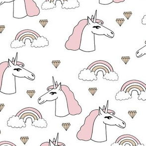 unicorn // girls unicorn cute pink pastel rainbows