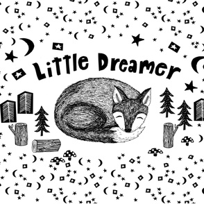 little dreamer minky blanket // black and white kids baby nursery fox blanket for baby crib cute babies