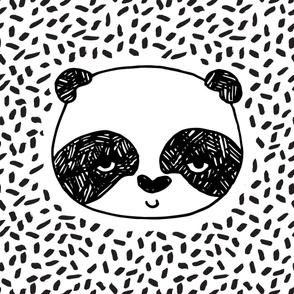 panda minky blanket // kids baby black and white nursery baby blankets minky baby