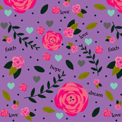 Scrapbook Floral in Lilac