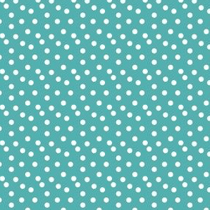 dots // tiffany blue aqua turquoise dots spots white cute baby nursery