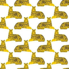 tigers // yellow tiger cute tigers baby kids nursery boys safari animals