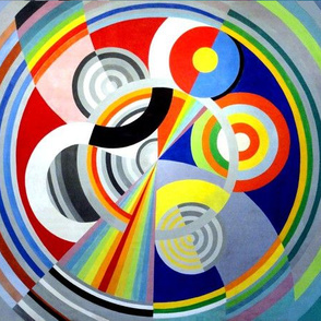 geometrical geometric circles shapes rainbow colorful colourful abstract