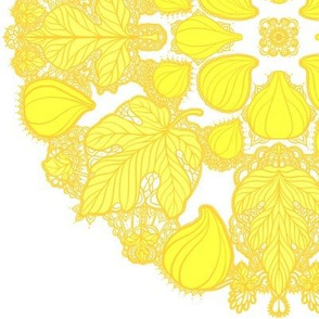 Figs and Fig Leaves in Yellow