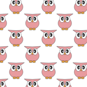 Small Pink Owl Pattern