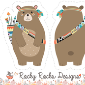 Cut and sew tribal woodland bear