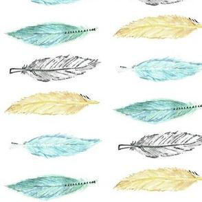 Pastel Feathers - sharp