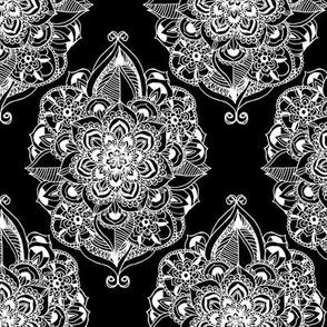 Black & White Art Deco Mandalas