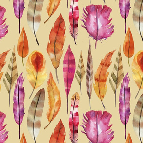 PATTERN  of indians feathers