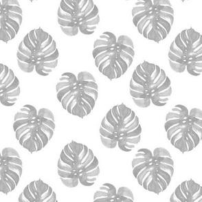 tropical palm print monstera kids grey watercolors palms tropical