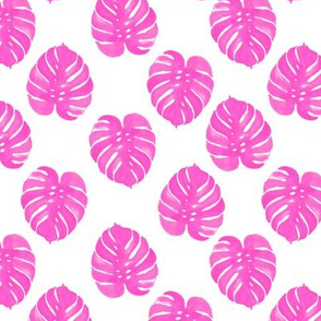palm print tropical pink watercolor palm prints cute summer