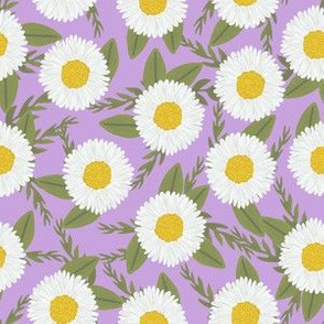 daisies purple flowers florals cute girls watercolor vintage flowers florals