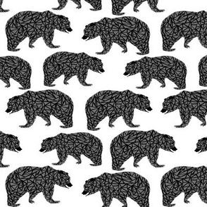 geo bear geometric bear grey bear bears woodland forest geo