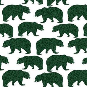 bear dark green boys bear fabric kids nursery bears