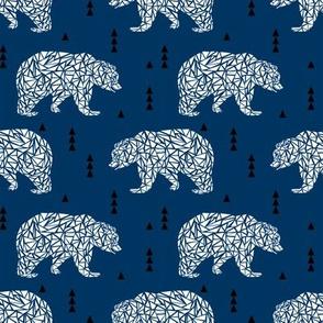 navy blue bear boys nursery kids bears outdoors camping woods forest