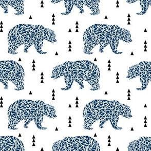 navy blue bear kids bears geo geometric boys nursery