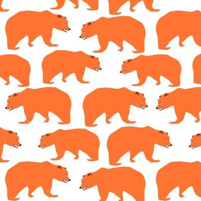 bear orange bears kids nursery boys camping