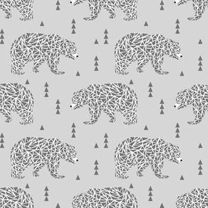 bear bears grey geo triangles kids boys nursery