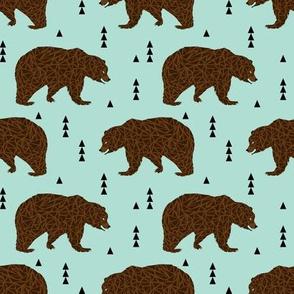 bear bears mint brown bear