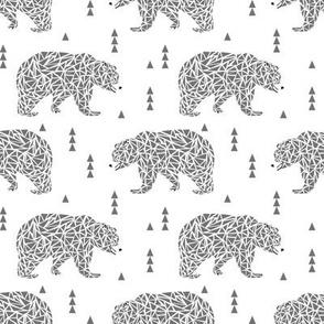 bears grey geo bear bears geometric kids boys
