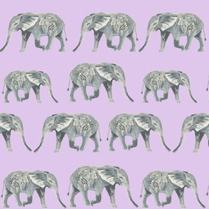 watercolor elephants pastel purple elephant watercolors watercolours