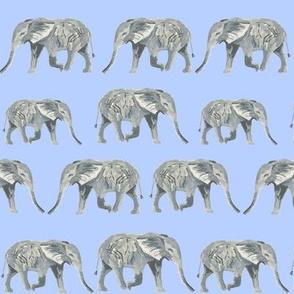 elephant watercolor watercolours elephants blue kids watercolors animals cute