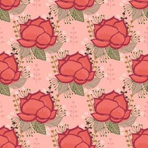 floral blossom girls nursery watercolor painted flowers vintage flower fabrics