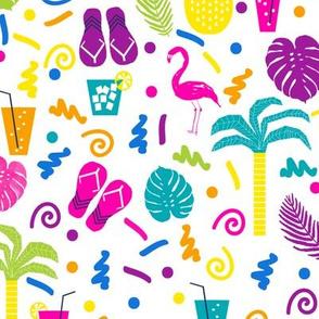 summer tropical party beach cute fun
