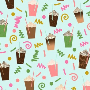 iced coffee summer latte cute drinks girly  fun print